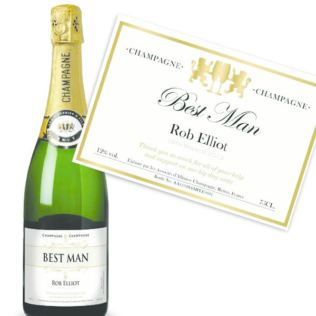 Best Man Personalised Champagne Product Image