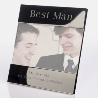Engraved Best Man Photo Frame Product Image