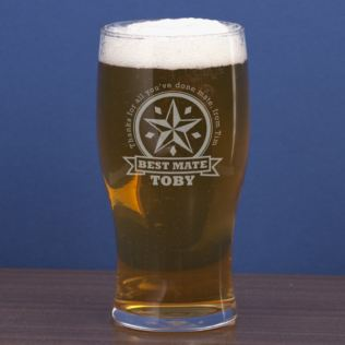 Best Mate Personalised Pint Glass Product Image