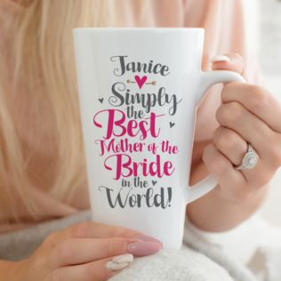 Personalised Mother Of The Bride Latte Mug Product Image