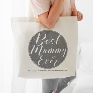 Personalised Best Mummy Ever Shoulder Tote Bag Product Image
