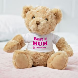 Personalised Best Mum/Mummy Teddy Bear Product Image