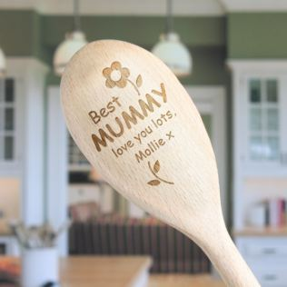 Best Mummy Personalised Wooden Spoon Product Image