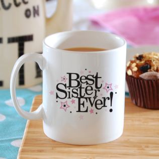 Best Sister Ever Personalised Mug Product Image