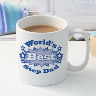 Worlds Best Step Dad Personalised Mug Product Image