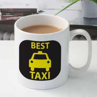 Best Taxi Personalised Mug Product Image
