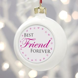 Personalised Best Friend Forever Christmas Bauble Product Image