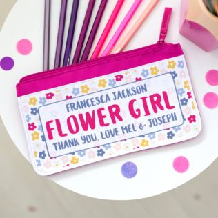 Personalised Flower Girl Pencil Case Product Image