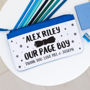 Personalised Page Boy Pencil Case Product Image