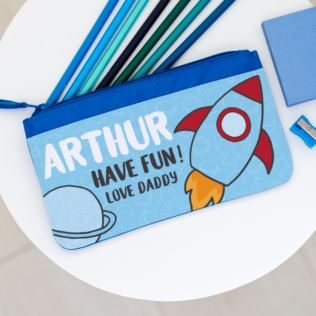 Personalised Pencil Case - Rocket Design Product Image