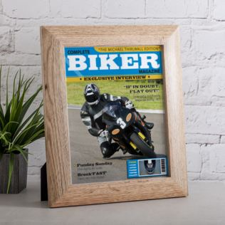 Personalised Biker Magazine Framed Print Product Image