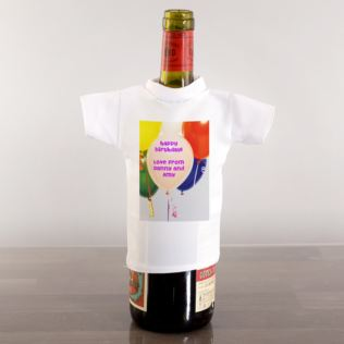 Balloons Personalised Wine Bottle T-Shirt Product Image