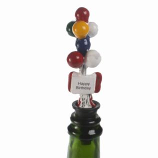 Red Party Balloons Bottle Stopper Product Image