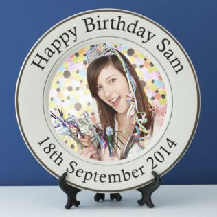 Personalised Birthday Photo Plate Product Image