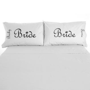 Bride and Bride Pillow Cases Product Image