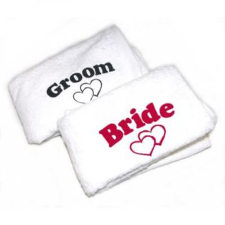 Bride and Groom Towels Product Image