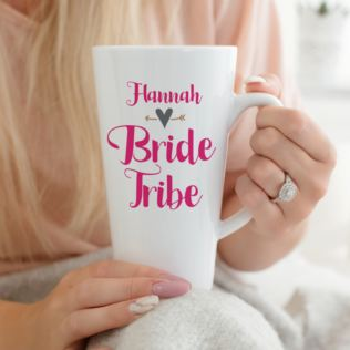 Personalised Bride Tribe Latte Mug Product Image