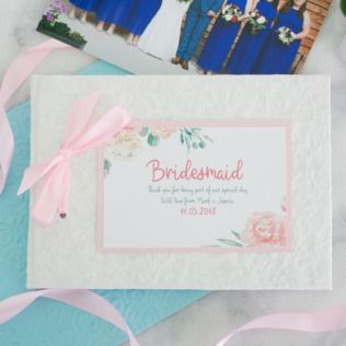 Personalised Bridesmaid Photo Album - Floral Design Product Image