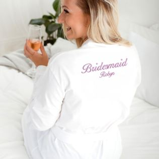 Personalised Embroidered Bridesmaid Dressing Gown Product Image