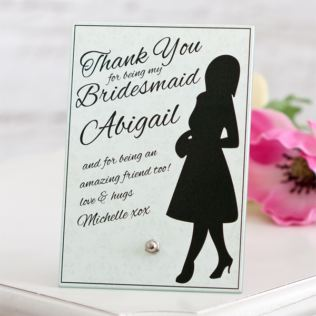 Bridesmaid Personalised Glass Plaque Product Image