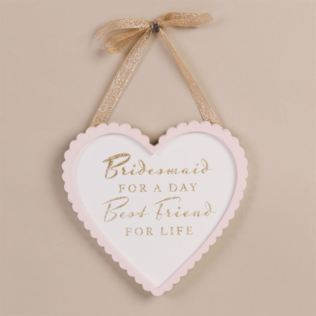 Amore Bridesmaid Heart Plaque Product Image