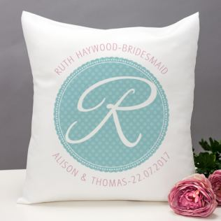 Personalised Bridesmaid Initial Cushion Product Image