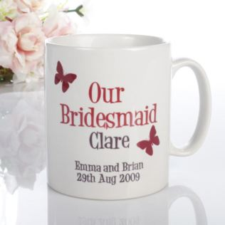 Personalised Bridesmaid Butterfly Mug Product Image