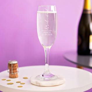 Personalised Bridesmaid Prosecco Glass Product Image