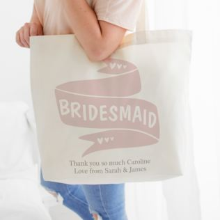 Personalised Bridesmaid Tote Bag Product Image