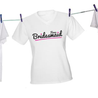 Personalised Bridesmaid T-Shirt Product Image