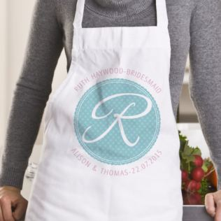 Personalised Bridesmaid Initial Apron Product Image