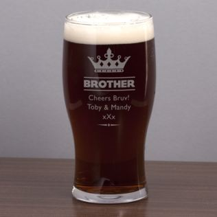 Brother Personalised Pint Glass Product Image