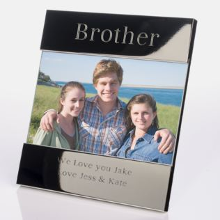 Engraved Brother Photo Frame Product Image