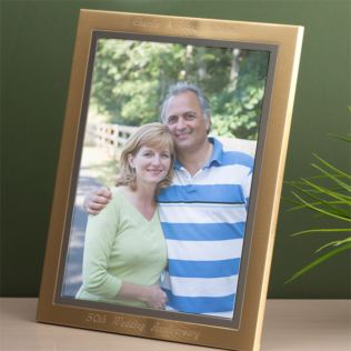Brushed Gold Effect Engraved Frame Product Image