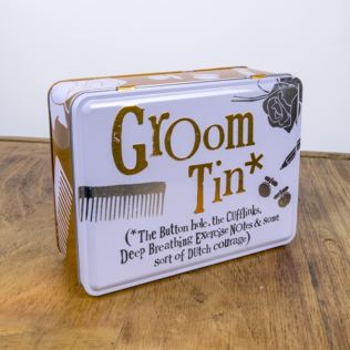 Groom Keepsake Tin Product Image