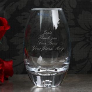 Personalised Handmade Barrel Bubble Base Mini Vase Product Image