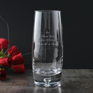 Personalised Bubble Base Barrel Vase Product Image
