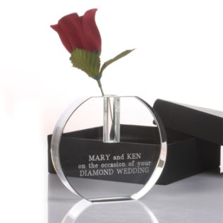 Engraved Crystal Bud Vase Product Image