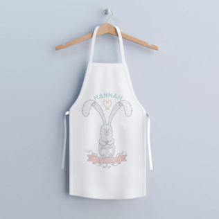 Personalised Bunny Let's Bake Children's Apron Product Image