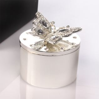 Engraved Butterfly Trinket Box Product Image