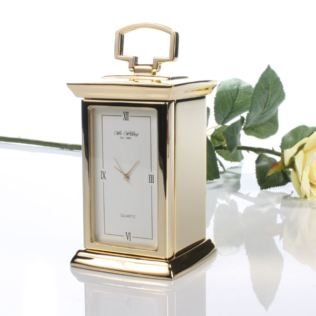 Personalised Gold Finish Carriage Clock Product Image