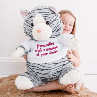 Extra Large Personalised Cat Soft Toy Product Image