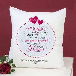 Personalised Catch Your Heart Cushion Product Image