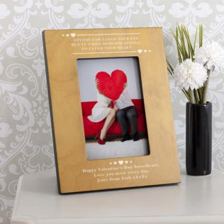 Personalised Catch Your Heart Wooden Photo Frame Product Image