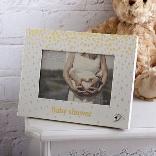 Bambino Gold Dots Baby Shower Photo Frame Product Image