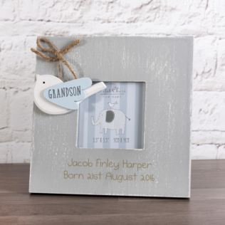 Personalised Vintage Little Bird Grandson Photo Frame Product Image