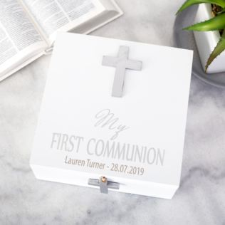 Personalised First Holy Communion Wooden Keepsake Box Product Image