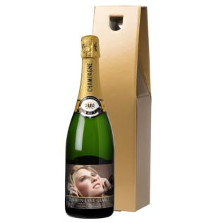 Personalised Photo Upload Bottle Of Champagne Product Image