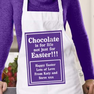 Chocolate is for life Personalised Easter Apron Product Image