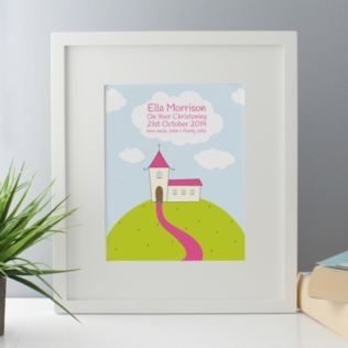 Personalised Girls Christening Framed Print Product Image